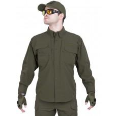 Легкая тактическая мужская рубашка GONGTEX TRAVELLER SHIRT, полиэтер-эластан, цвет Олива (Olive)