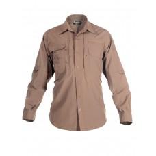Легкая тактическая мужская рубашка GONGTEX TRAVELLER SHIRT, полиэтер-эластан, цвет Койот (Coyote)