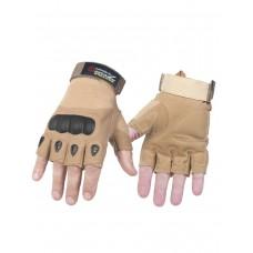 Тактические перчатки беспалые Army Tactical Gloves, арт T-323, цвет Койот (Coyote)