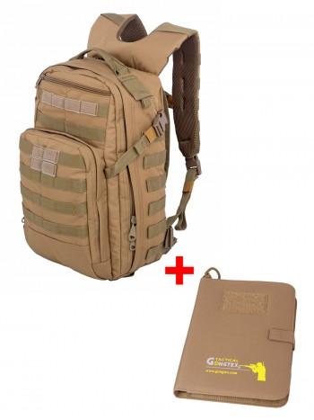 Акционный набор Тактический мужской рюкзак Striker, Tactica 762, 20 л, +  Армейский блокнот, цвет Койот (Coyote)