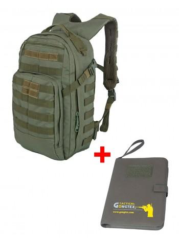 Акционный набор Тактический мужской рюкзак Striker, Tactica 762, 20 л, +  Армейский блокнот, цвет Олива (Olive)