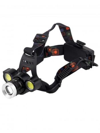Мощный, налобный, светодиодный, аккумуляторный фонарь, арт. HL-BT-001 (4 режима, полный комплект)