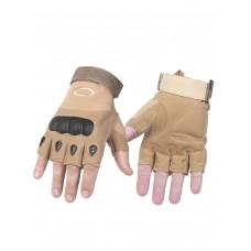 Тактические перчатки беспалые Factory Pilot Gloves, арт OK-323, цвет Койот (Coyote)