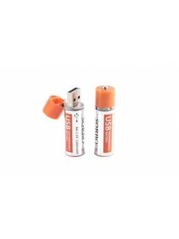 Аккумулятор Sorbo USB AA 1.5V 1200mAH
