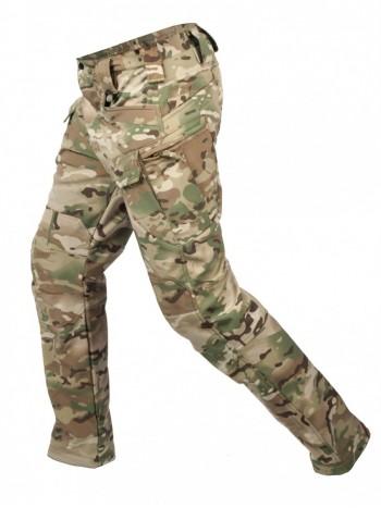 Брюки тактические мужские Софтшелл Gongtex Assault Softshell Pants, осень-зима, цвет Мультикам (Multicam)