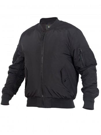 Куртка Пилот мужская утепленная (бомбер), GONGTEX Tactical Soft Flight Jacket, осень-зима, цвет Черный (Black)