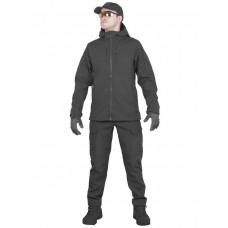 Тактический костюм мужской софтшелл GONGTEX SMARTFOX SOFTSHELL, весна - осень, цвет Черный (Black)
