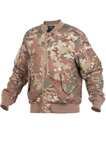 Куртка Пилот мужская утепленная (бомбер), GONGTEX Tactical Soft Flight Jacket, осень-зима, цвет Мультикам (Multicam)