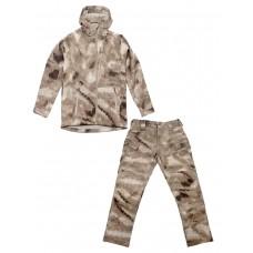 Тактический костюм мужской софтшелл (Softshell) GONGTEX ASSAULT, до -10С, цвет Атакс песок, A-Tacs Desert, (A-Tacs AU)