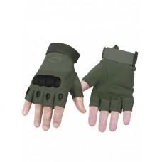 Тактические перчатки беспалые Factory Pilot Gloves, арт OK-323, цвет Оливе (Olive)