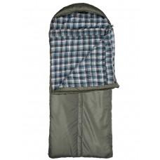 Спальный мешок Yagnob Marko Polo -10, левосторонний, HOLLOW FIBER, фланель, цвет Олива (Olive)