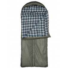 Спальный мешок Yagnob Marko Polo -30, левосторонний, HOLLOW FIBER, фланель, цвет Олива (Olive)