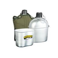 Комплект: походная фляга 2в1 (фляжка) алюминиевая 1 литр + п...