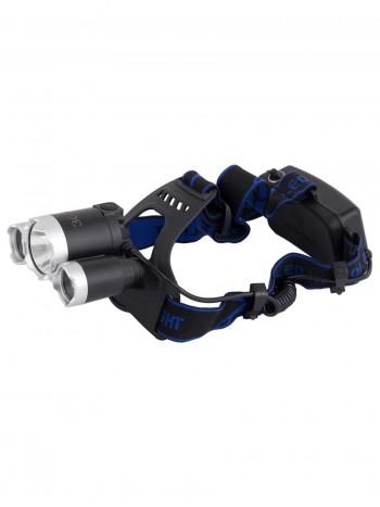 Мощный  налобный светодиодный аккумуляторный фонарь HL-3000 (полный комплект)