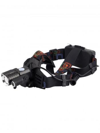 Мощный  налобный светодиодный аккумуляторный фонарь HL-602 (3 источника)