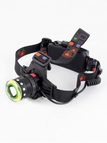 Мощный налобный светодиодный аккумуляторный фонарь HL-105 (2 источника + полный комплект)