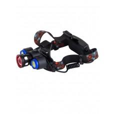 Мощный  налобный светодиодный аккумуляторный фонарь HL-861 (3 источника + полный комплект)