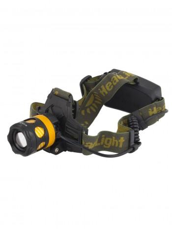 Мощный  налобный светодиодный аккумуляторный фонарь HL-K-13-2 (желтый свет + полный комплект)