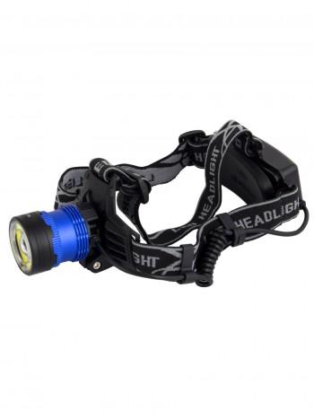 Мощный налобный светодиодный аккумуляторный фонарь HL-KC2 (2 источника + полный комплект)