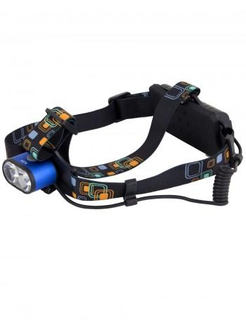Мощный налобный светодиодный аккумуляторный фонарь HL-K28 (2 источника + зарядный кабель miniUSB)
