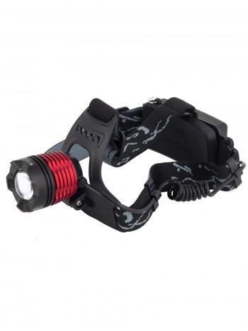Мощный  налобный светодиодный аккумуляторный фонарь HL-K-12-2 (желтый свет + полный комплект)