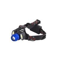 Мощный налобный светодиодный аккумуляторный фонарь HL-1808 (...
