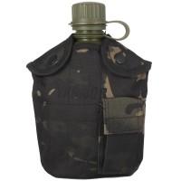 Армейская фляга пластиковая 1 литр,  в камуфлированном чехле...
