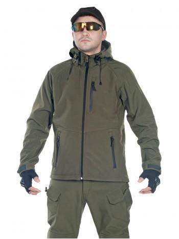 Куртка мужская тактическая софтшелл GONGTEX ASSAULT SOFTSHELL JACKET, цвет Олива (Olive)