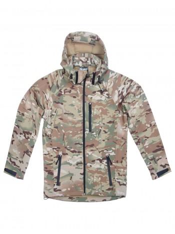 Куртка мужская тактическая софтшелл GONGTEX ASSAULT SOFTSHELL JACKET, цвет Мультикам (Multicam)