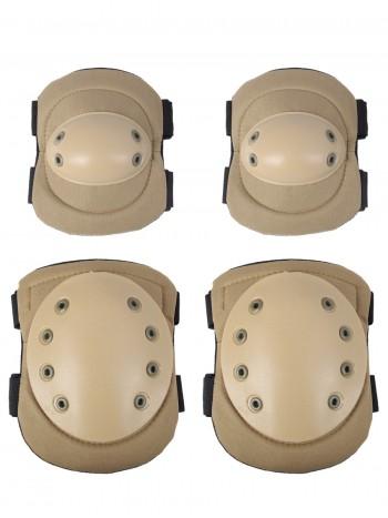 Комплект: Налокотники и Наколенники Tactical Protection, арт Y04, цвет Койот (Coyote)