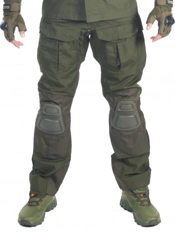 Брюки мужские тактические, Gongtex Alpha Tactical Pants с наколенниками, цвет Олива (Olive)