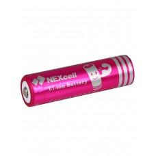 18650 Аккумулятор NEXcell, литий-ионный (li ion),  емкость 3100mAh