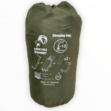 Спальный мешок Yagnob Marko Polo -10  TRAVELER, левосторонний, HOLLOW FIBER, фланель, цвет Олива (Olive)