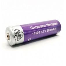Литиевая батарея Поиск YB-14500, 3.7V, 600 mAH, арт. YB-14500