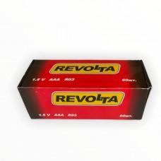Солевая батарейка Revolta 1.5V, R03, AAA Size (уп. 60 шт)