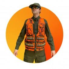 Охотничий жилет GMax на 32 патрона, цвет Ярко-Оранжевый