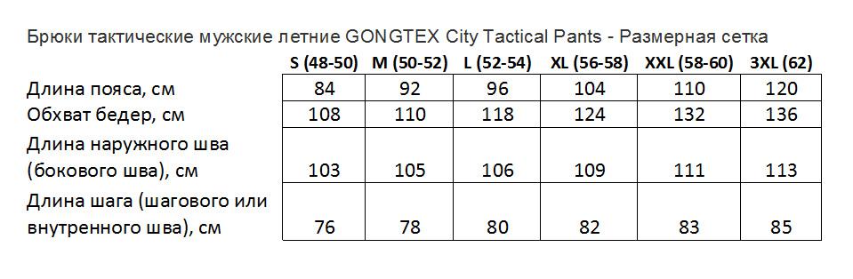 Брюки тактические мужские летние GONGTEX City Tactical Pants
